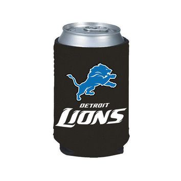 NFL Detroit Lions Can Bottle Koozie Coozie Drink Holder Football