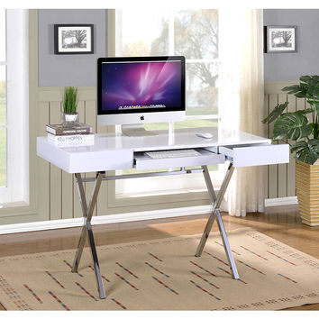K & B HO2960-WH Computer X Desk | Overstock.com Shopping - The Best Deals on Desks