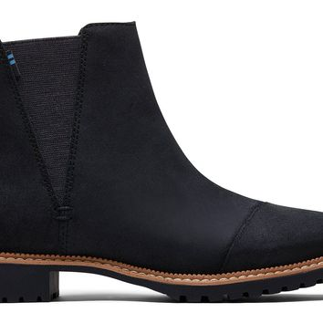 TOMS - Women's Cleo Water Resistant Black Leather Boots