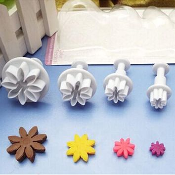 Baking Moulds Decorating Cake DIY Tools Cookie Pastry Plunger Chocolate Sugar Craft Fondant Cutters Home Kitchen A