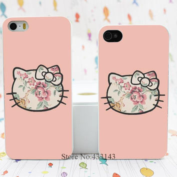 hello kitty flower Style Hard White Skin Case Cover for iPhone 5 5s 5g