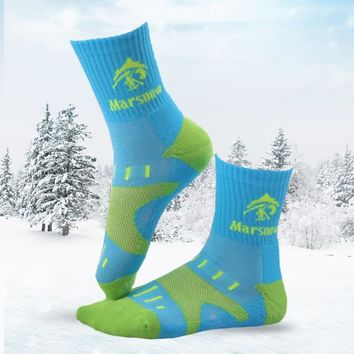 Winter Thermal Ski Socks Men Women Child Cotton Breathable Sport Snowboard Socks Wearable Thermosocks calcetines de ciclismo