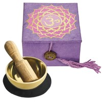 "Tibetan Mini Meditation Bowl and Box: 2"" Crown Chakra"