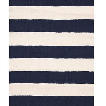 Catamaran Stripe Indoor/Outdoor Rug | Navy/Ivory