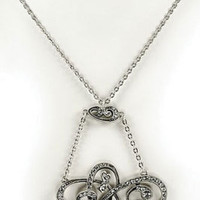 Victorian trading Co. - www.victoriantradingco.com - Spencerian Crystal Necklace & Earrings
