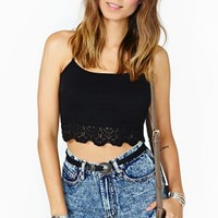 Night Moves Crochet Crop Tank