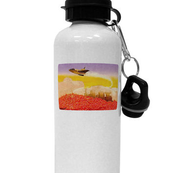 Planet Mars Watercolor Aluminum 600ml Water Bottle