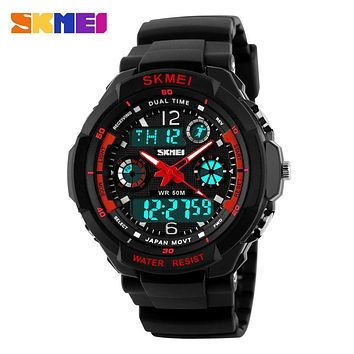 Skmei Brand 0931 Outdoor Dress Military Watch Relogio Digital Analog Quartz Watches Led Waterproof Clock Men Casual Wristwatch