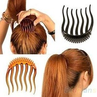 Bump It Up Volume Inserts Hair Clip For Ponytail Bouffant Styles Hair Comb = 5658560321