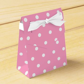 Pink Polka Dots Pattern Favor Box