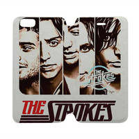 THE STROKES Case Wallet iPhone 4/4S 5/5S 5C 6 Plus Samsung Galaxy S4 S5 S6 Edge Note 3 4