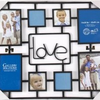 Gallery Solutions Black Collage Wire Love Frame with 8 Openings