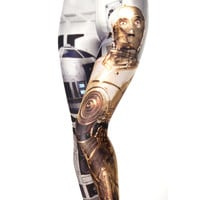 Sexy  Star Wars galaxy robot droid R2D2 C-3P0 3D prints Leggings pants