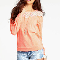LACE NEON SWEATER