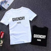 """Givenchy"" Unisex Casual Fashion Blessed Virgin Print Pattern Couple Short Sleeve Cotton T-shirt Top Tee"