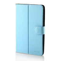 "Universal Protective Leather Case for 7"" Tablet (Blue)"