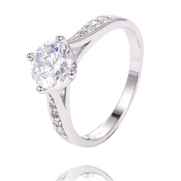 Charming 925 sterling silver cubic zirconia Pretty Elelgant Women's Ring size6-8