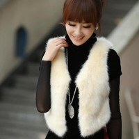 Faux Fur Vest for Women