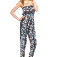 Wildflower Strapless Jumpsuit