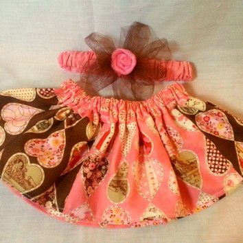 Newborn ruffle skirt and headband set - newborn girl outfit - newborn pink outfit - shabby chic baby girl - coming home outfit pink