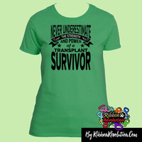 Never Underestimate The Strength and Power of a Adrenal Cancer Survivor Shirts
