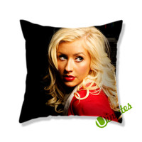 Christina Aguilera Square Pillow Cover