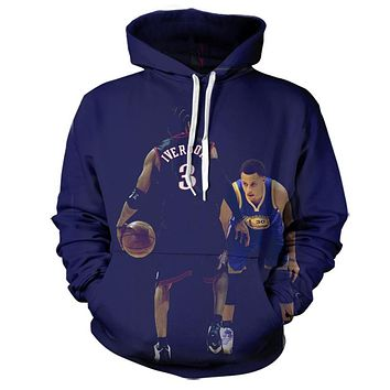 Allen Iverson vs Steph Curry Hoodie