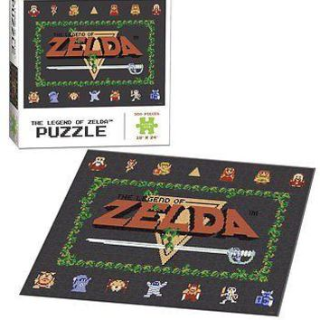 "The Legend of Zelda Classic Jigsaw Puzzle 550 Piece 18"" x 24"" Finished Size"