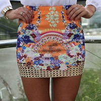 THE SANTORINI SKIRT , BOTTOMS,,Minis,Skirts,Bodycon Australia, Queensland, Brisbane