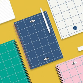 Nice two color spiral lined notebook
