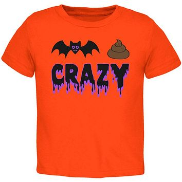 Halloween Bat Poop Crazy  Toddler T Shirt