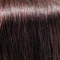 """18"""" Clip In Remy Hair Extensions: Darkest Brown No. 2"""