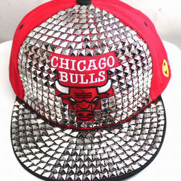 3D Chicago Bulls Rivet Studded Snap Back