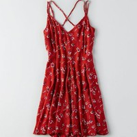 AEO Lace Overlay Dress , Burgundy | American Eagle Outfitters