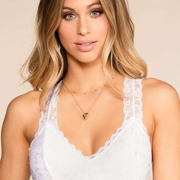 Cherished White Lace Bralette