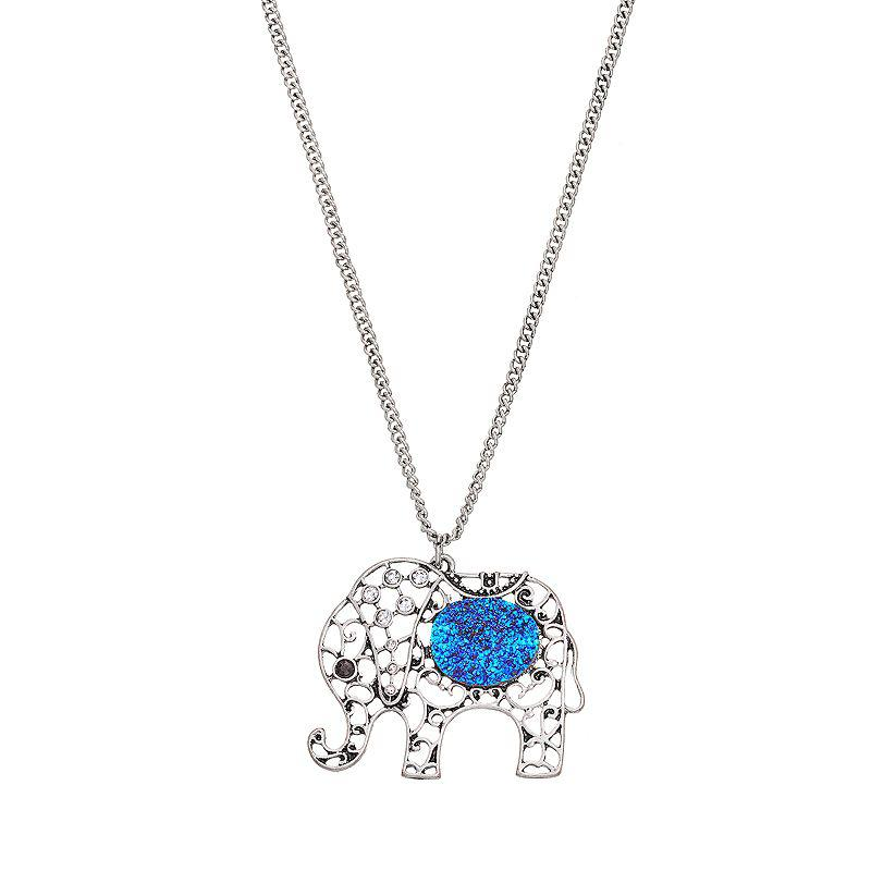 Mudd elephant long pendant necklace from kohl 39 s for Kohls jewelry mens rings