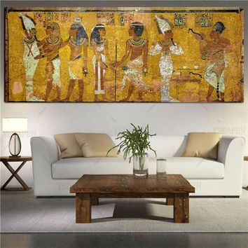Egyptian Oil Painting Canvas Wall Art Large