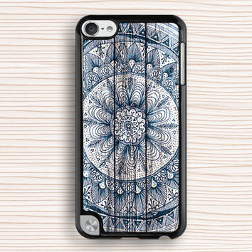 blue mandala ipod touch 5 case,blue flower ipod 4 case,old wood grain ipod 5 case,paint wood flower ipod touch 5 case,art wood design ipod touch 5 cover,gift ipod touch 4,art wood design gift ipod touch 4