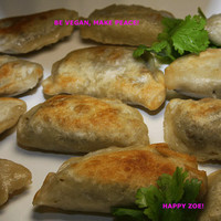 Vegan pierogies with lentils,mushrooms and chia seeds, natural,healthy,lunch,dinnger,snack,wedding.