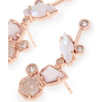 Troian Rose Gold Ear Climbers in Radiant | Kendra Scott