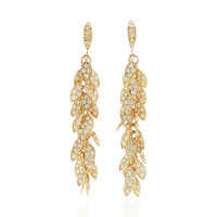 Long Leaflet Drop Earrings | Moda Operandi