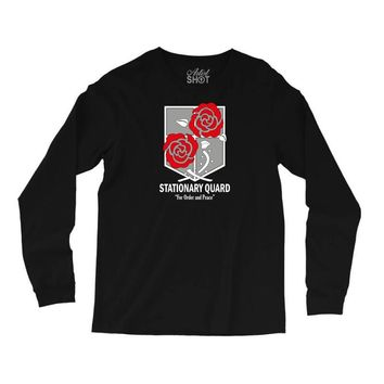 Stationary Quard- Attack on Titan Long Sleeve Shirts
