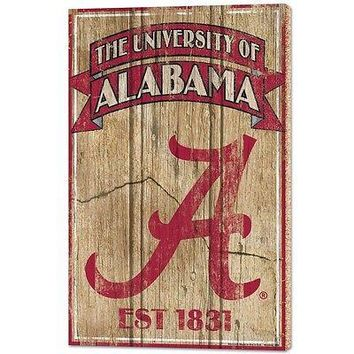 "ALABAMA CRIMSON TIDE EST 1831 VINTAGE WOOD SIGN 15""X24'' BRAND NEW WINCRAFT"
