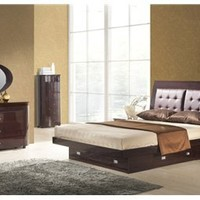 Angela Platform Bedroom Set Wenge, Beds And Bedroom Sets: Nyfurnitureoutlets.com