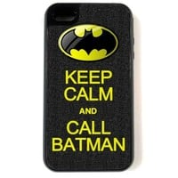 iPhone 4 Case - Hardshell Protective iPhone 4/4s Case - Keep Calm Call Batman