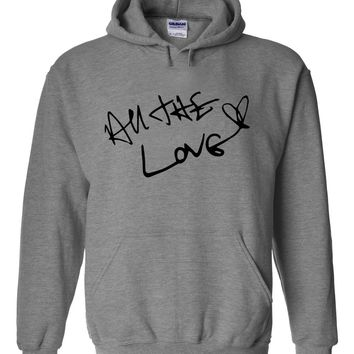 "Harry Styles ""All The Love Autograph"" Hoodie Sweatshirt"