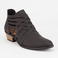 QUPID Criss Cross Womens Booties