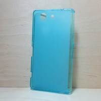 Soft TPU translucent Color Case Protective Silicone Back Case Cover for Sony Xperia Z3 Compact - Blue