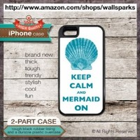 iPhone 4 and 4s Case Keep Calm And Mermaid On