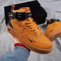 [Free Shipping ]Nike Air Force 1 07 Mid Utility Pack 804609-107   Basketball Shoes